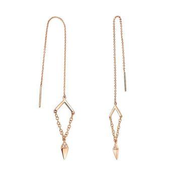 钻石小鸟:清芳-18K金钻石耳环
