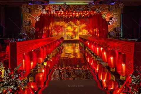 红色婚礼布置