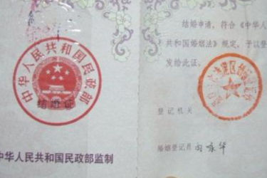 结婚证照片要求