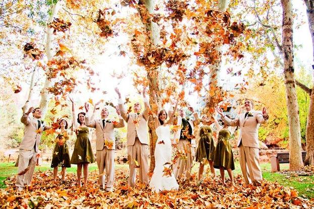 秋季婚礼着装