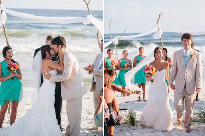 要在沙滩上办一场隆重的婚礼,不得不说,在很大程度上,是需要有勇气,有准备,又必须要有全面的策略设计,才能在相对复杂的环境中,突显婚礼的主题。在沙滩婚礼策划中,除了专业的流程需要之外,一定要抓住重点进行全面的准备,场地准备,整体布局,所有用品的准备等等,还要考虑在餐食的准备方面,为保证达到更好的完善婚礼提供保证,这也是专业策划的提升。而布置场面需要的时间较大,看好天气也要有应急的措施。