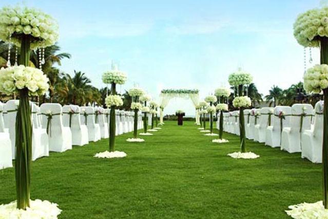 白绿色主题婚礼