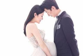 怀孕新娘婚纱照