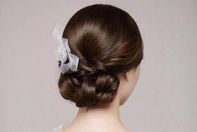 新娘晚礼服发型
