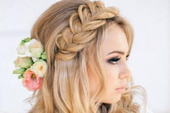 麻花辫新娘发型