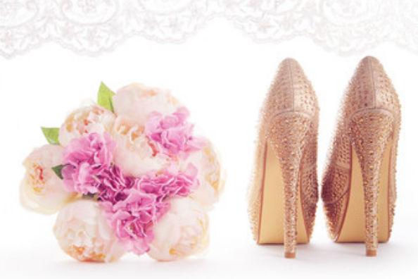 金色新娘鞋
