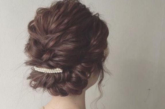 长脸型新娘发型