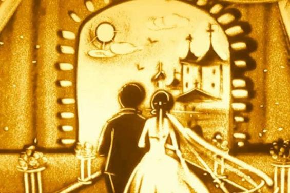 婚礼沙画字幕