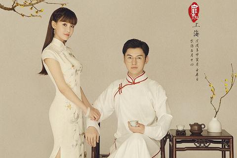 旗袍婚纱照片欣赏