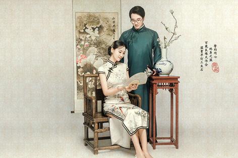 中式旗袍婚纱照