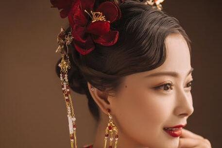 中式新娘盘发教程