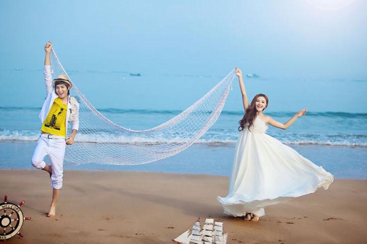 海景婚纱照道具