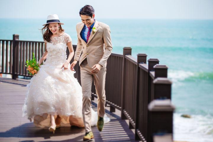 海景婚纱照图片