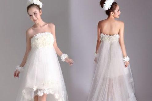 矮个子新娘婚纱礼服