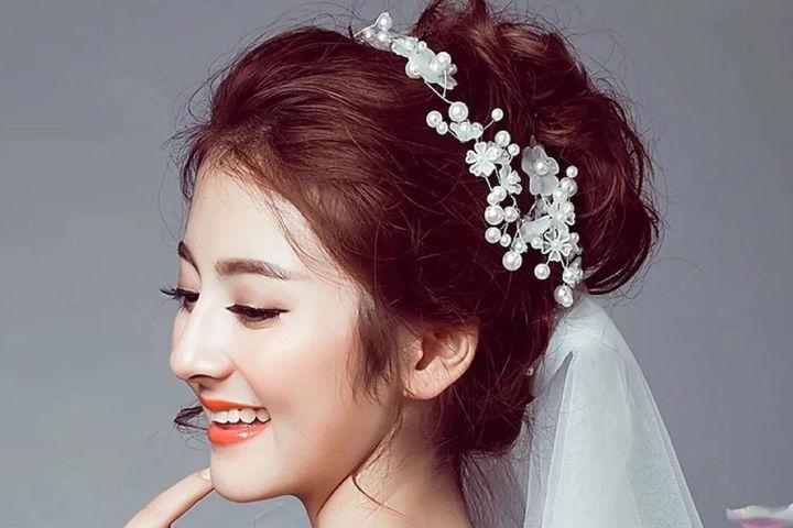 新娘丸子头发型图解
