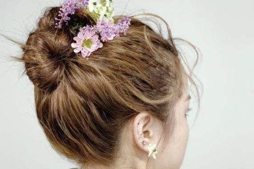 新娘丸子头发型