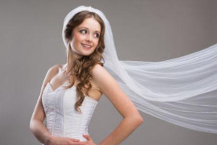 新娘头纱的戴法