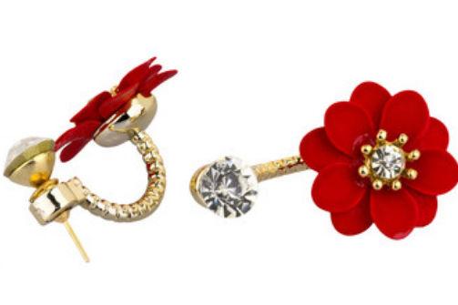 新娘红色耳环