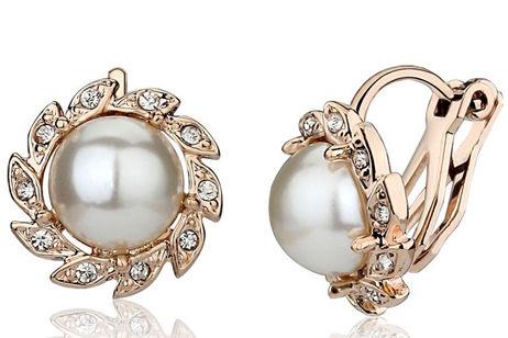 新娘珍珠耳环款式