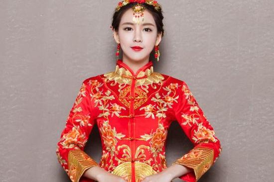 旗袍新娘发型教程