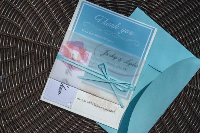 结婚伴手礼卡片