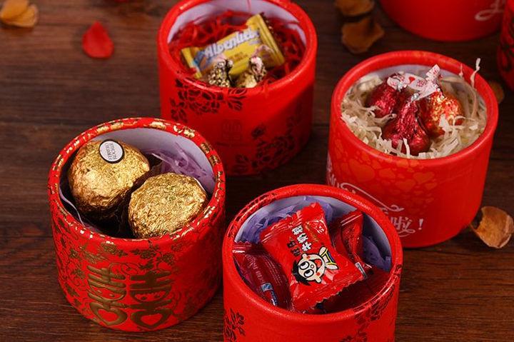 结婚喜糖盒搭配