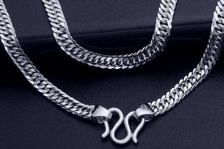 男士铂金项链