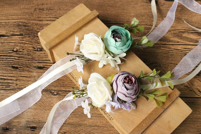 新娘丝带手腕花制作