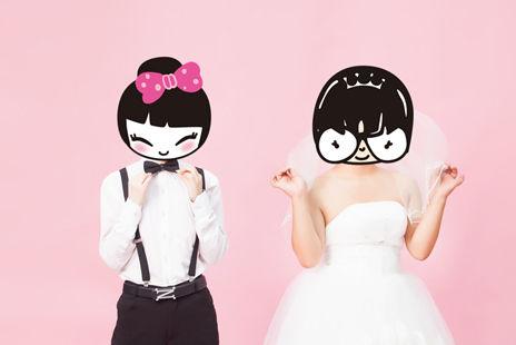 反串婚纱照风格