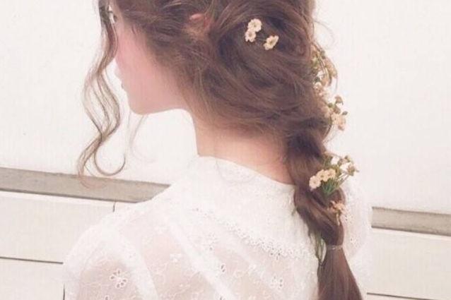 中长发新娘发型