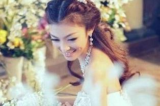 新娘长发发型图片
