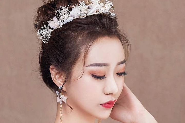 新娘发型设计图片