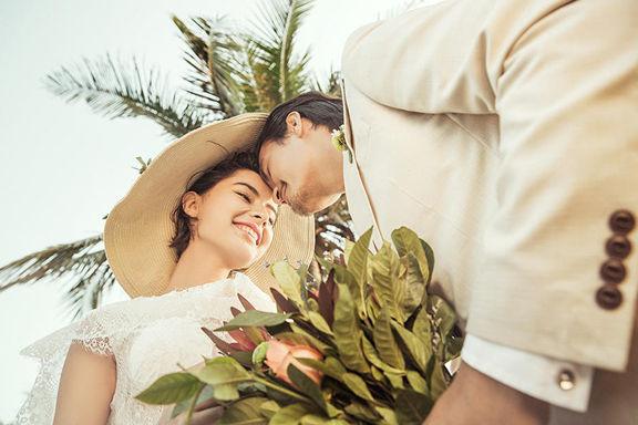 婚纱照的照片
