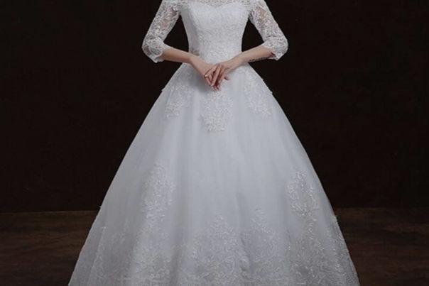 豪华的婚纱
