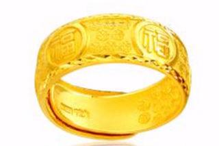 中国黄金戒指图片女款