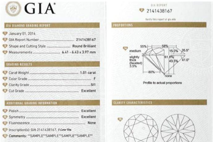 gia钻石证书主要分为GIA小证、GIA大证和GIA彩证三种。其中GIA小证主要描述1克拉以下的钻石,GIA大证主要描述1克拉以上的克拉钻,而GIA彩证是专门描述彩钻的鉴定证书。