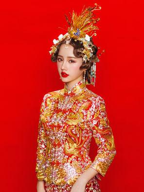上善造型:公主典藏套系(婚纱礼服+新娘跟妆)此产品不与其它平台任何优惠同享