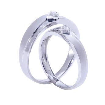 爱的源泉系列 18K金钻石对戒