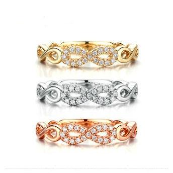 指语系列 18K钻石戒指 群镶
